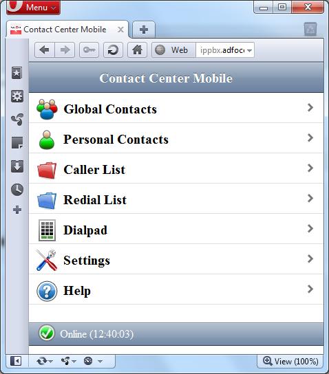 Contact Center Mobile op Opera